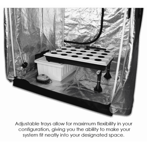 Image of 20-Site Super Flow Hydroponic Grow System-SuperFlow 20-westtradinghouse.com