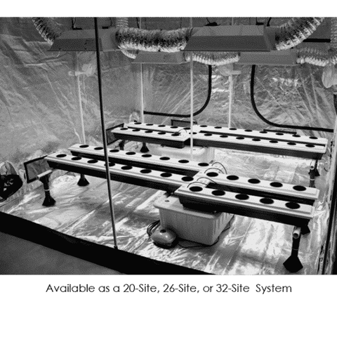 Image of 26-Site Super Flow Hydroponic Grow System-SuperFlow 26-westtradinghouse.com