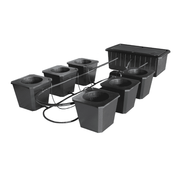 6-Site Bubble Flow Buckets Hydroponic Grow System BubbleFlow Bucket 6