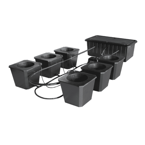 Image of 6-Site Bubble Flow Buckets Hydroponic Grow System BubbleFlow Bucket 6