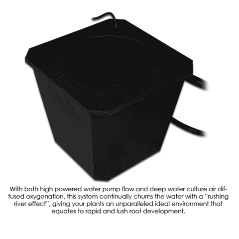 Image of 6-Site Bubble Flow Buckets Hydroponic Grow System-BubbleFlow Bucket 6-westtradinghouse.com