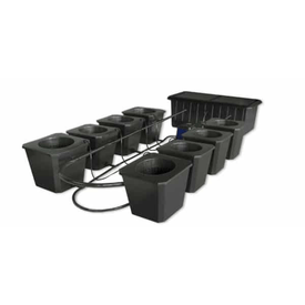 8-Site Bubble Flow Buckets Hydroponic Grow System-BubbleFlow Bucket 8-westtradinghouse.com
