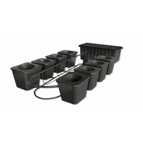 Image of 8-Site Bubble Flow Buckets Hydroponic Grow System BubbleFlow Bucket 8