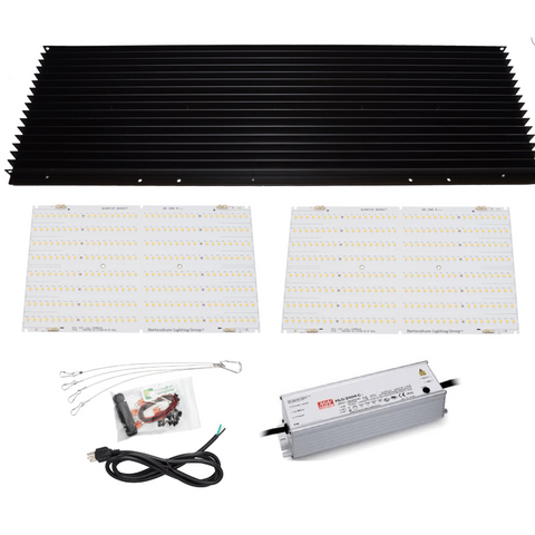 Image of HLG 260 Watt V2 Rspec Quantum Board LED Grow Light DIY Kit Flower Cycle Horticulture Lighting Group-HLG-260QBV2RspecKit-westtradinghouse.com