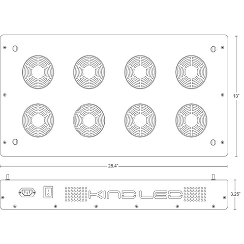 Image of Kind K3 XL600 320 Watt LED Grow Light-Kind LED Grow Lights-XL600-westtradinghouse.com