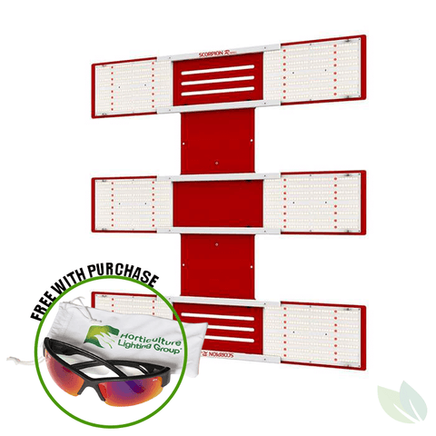 Image of HLG Scorpion Rspec 600 Watt LED Grow Light Horticulture Lighting Group w/ Glasses
