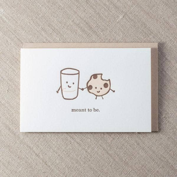 Meant To Be Milk & Cookies Card
