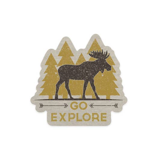 Go Explore Sticker SMALL