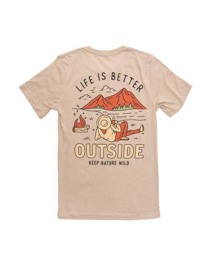 Better Outside Unisex Tee | Heather Tan