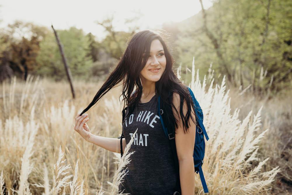 I'd Hike That Women's Muscle Tank | Charcoal Grey