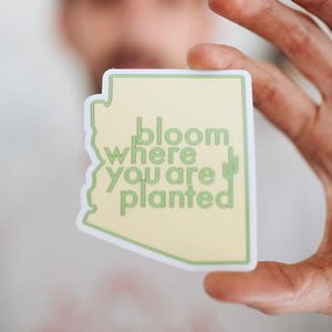 Arizona Bloom Where You Are Planted Sticker