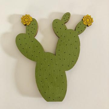 Prickly Pear Yellow Flower Magnet