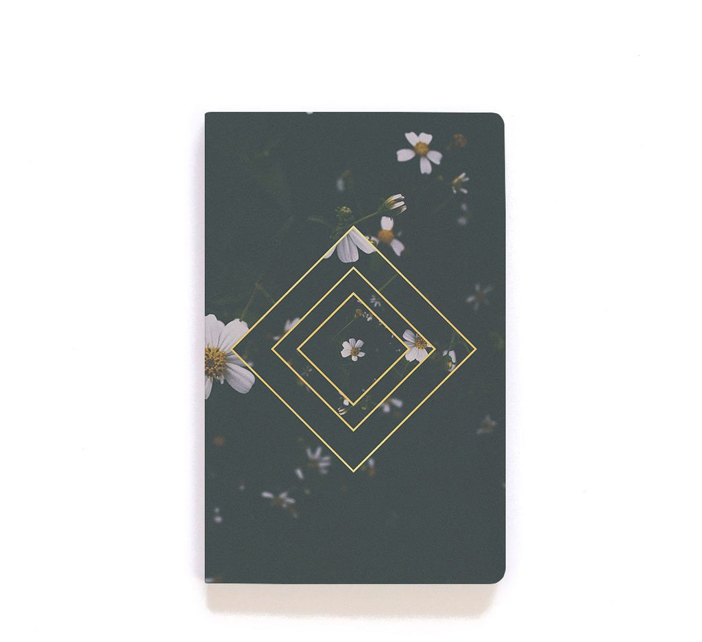 Emerald Floral Layflat Journal | Lined