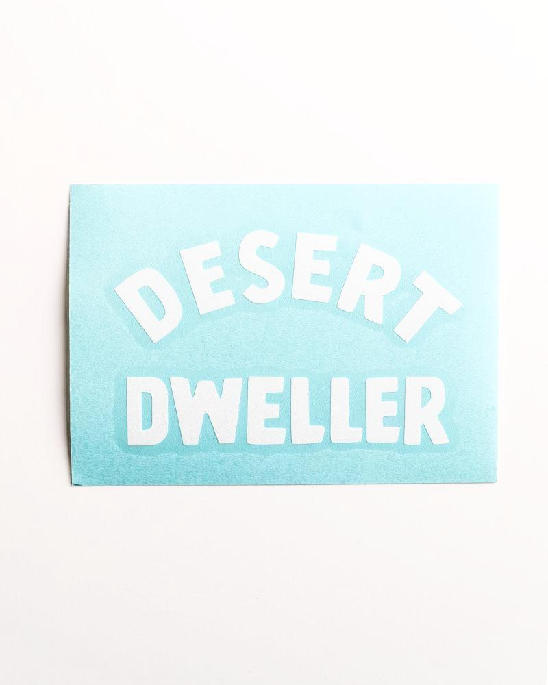 Desert Dweller Decal | White