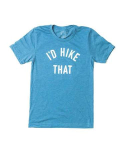 I'd Hike That Unisex Tee | Glacier Blue