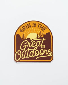 Grin in the Great Outdoors Desert Sticker
