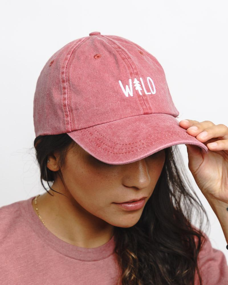 Wild Pine Dad Hat | Berry