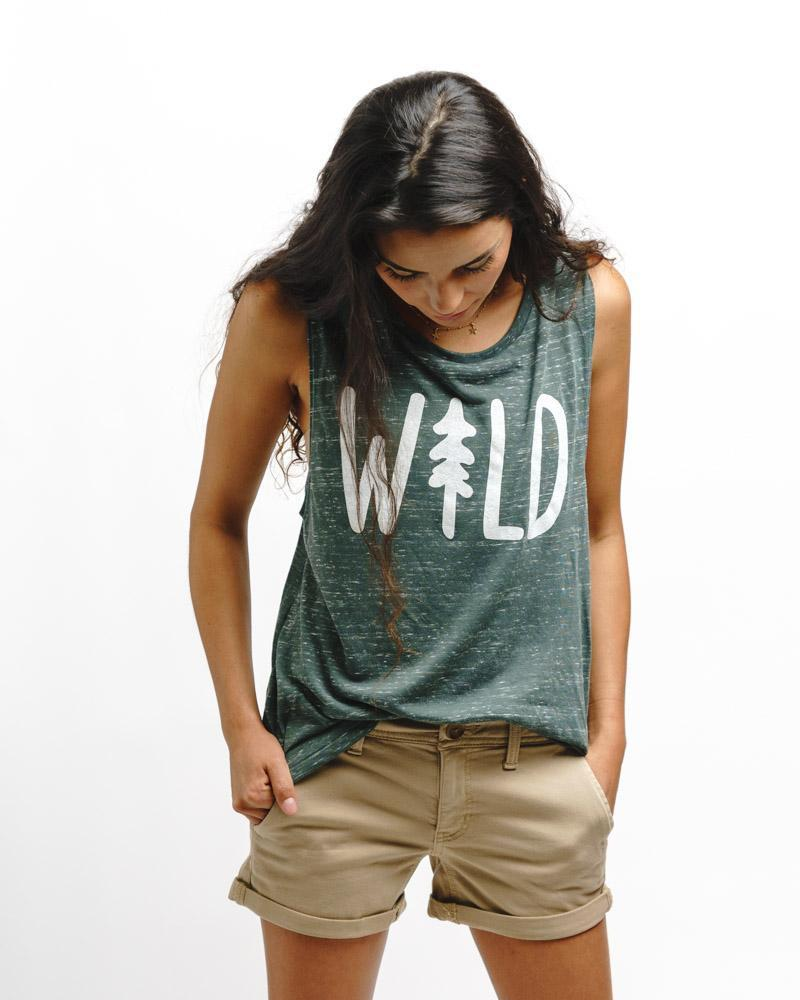 Wild Pine Muscle Tank | Forest