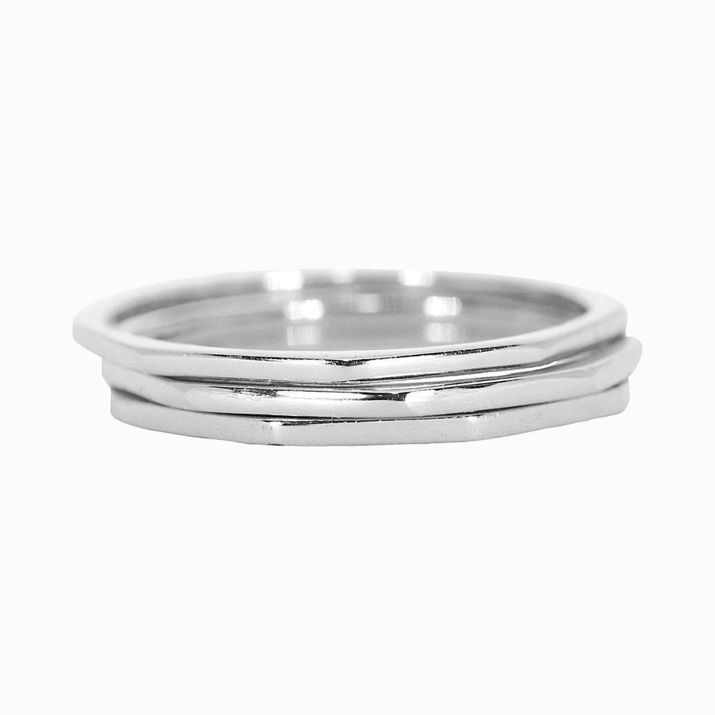 Delicate Stacked Ring | Silver