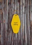 Regret Nothing Motel Keychain