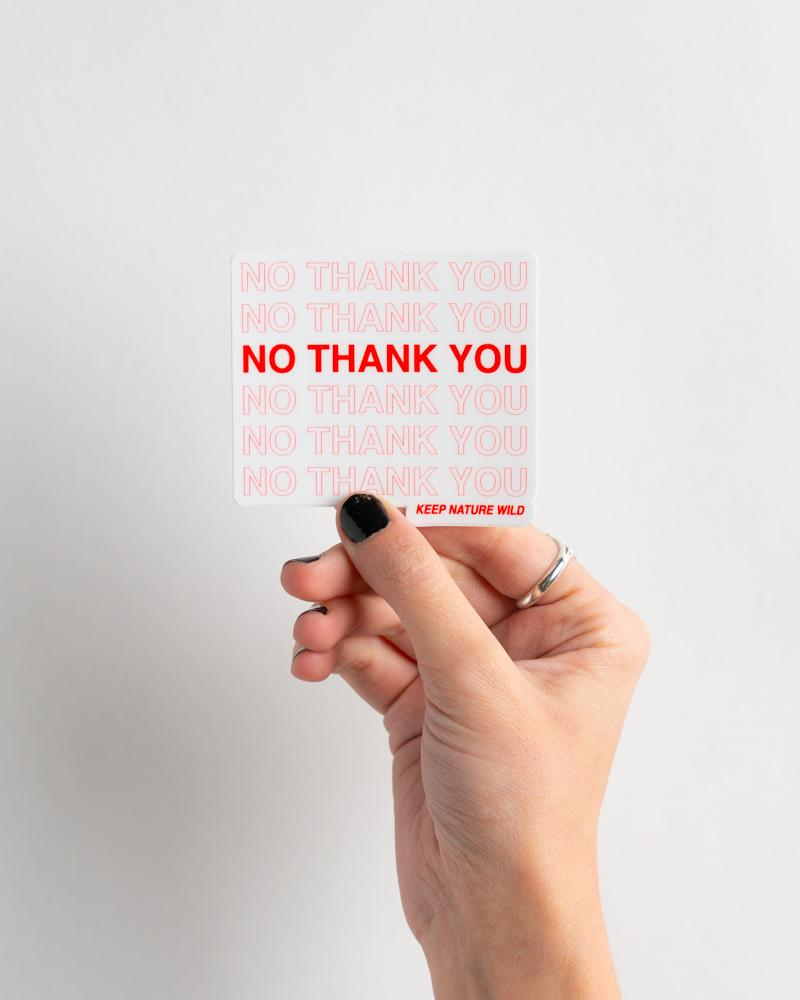 No Thank You Sticker