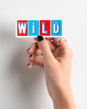 Red Wild and Blue Sticker