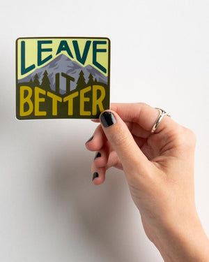 Leave It Better Forest Sticker