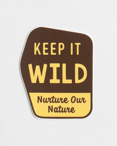Posted Keep it Wild Sticker