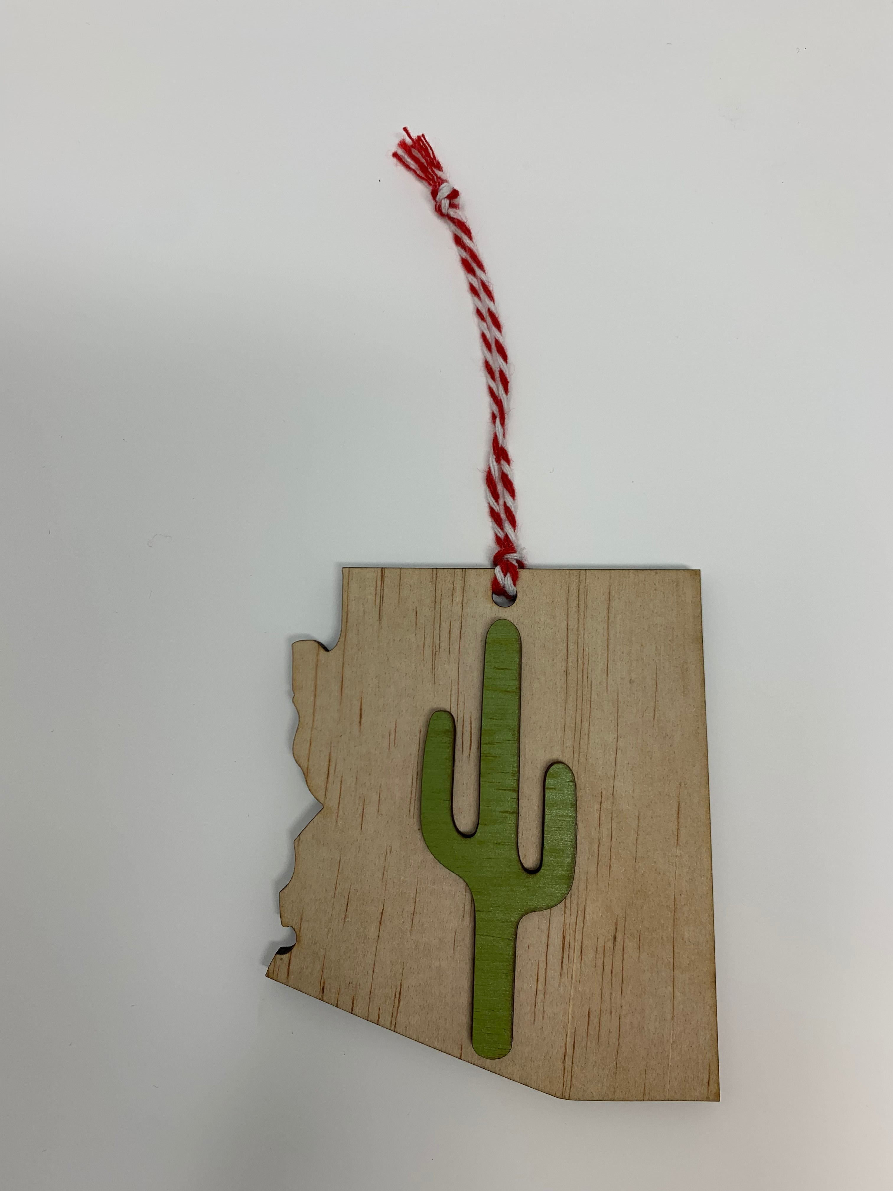 Arizona Cactus Ornament | Natural Wood