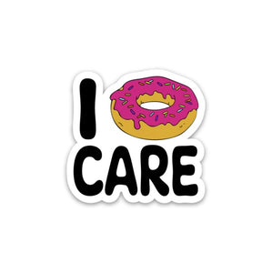 I (Donut) Care Sticker