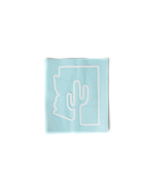 Arizona Outline | White Decal