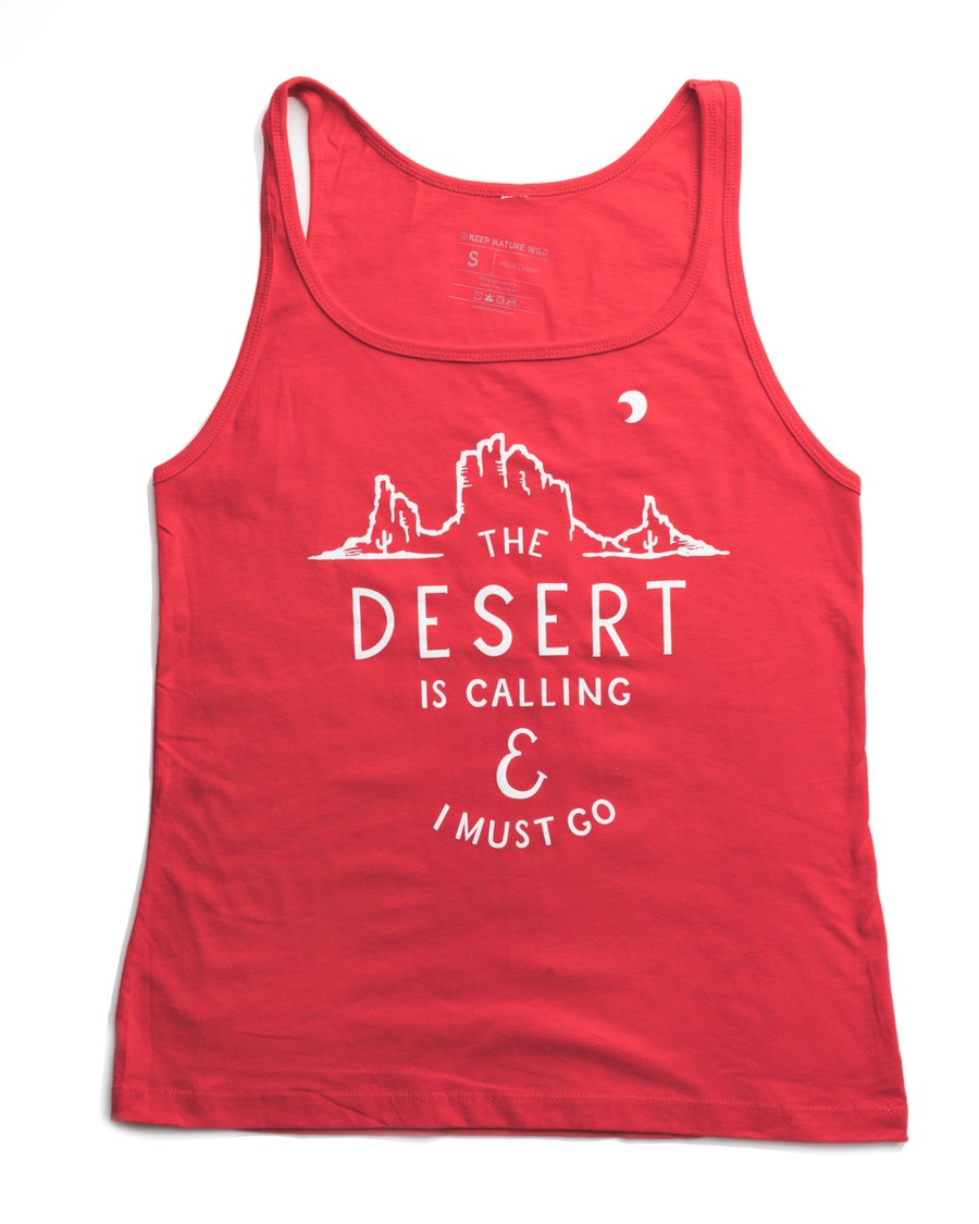 Desert Is Calling Women's Flowy Tank | Cherry