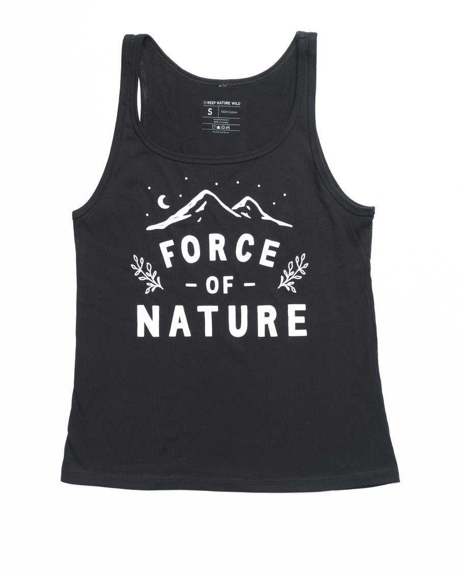 Force of Nature Women's Flowy Racerback Tank | Black
