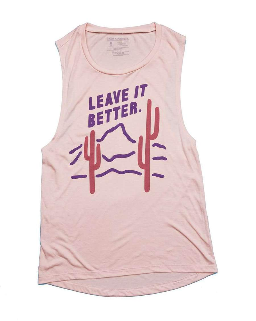 Leave It Better Muscle Tank | Rose