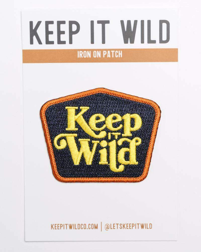 Keep It Wild Retro Patch