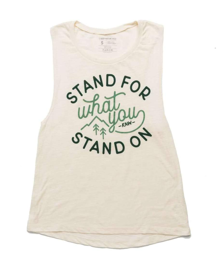 Stand For Muscle Tank | Natural