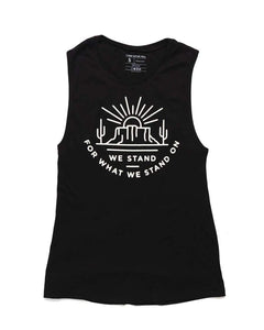 We Stand Muscle Tank | Black