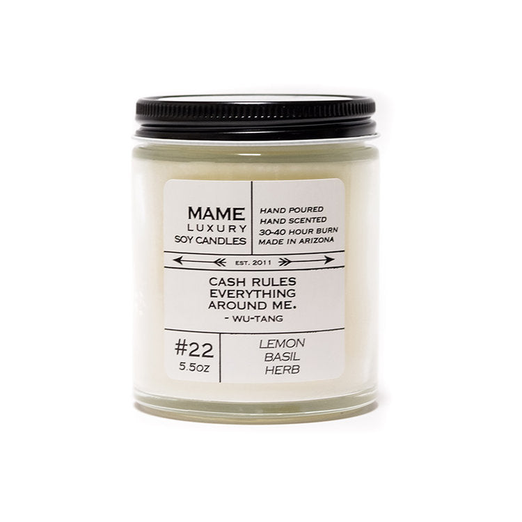 #22 Lemon, Basil & Herb Candle