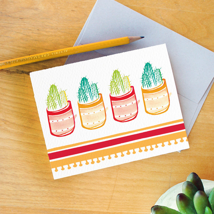 Cactus Party Card