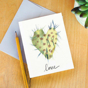 Love Cactus Card