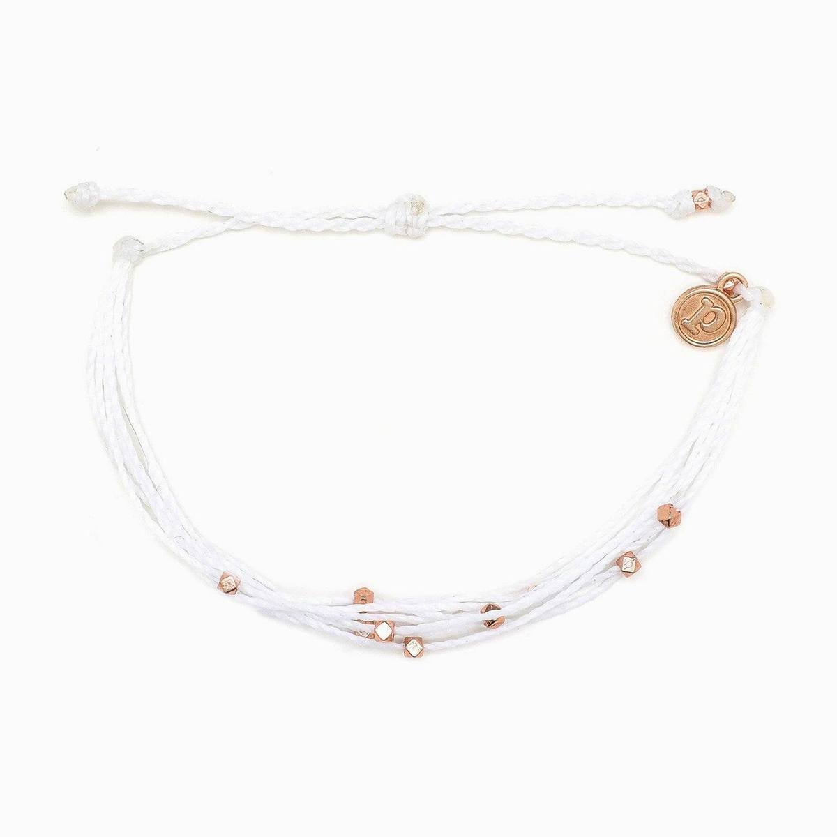 Rose Gold Malibu Bracelet | White