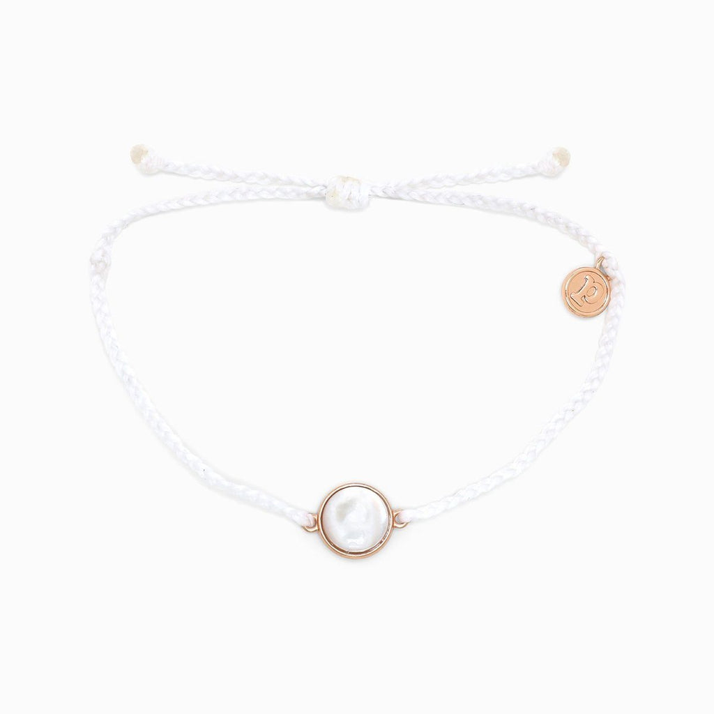 Rose Gold Mother Of Pearl Bracelet | White