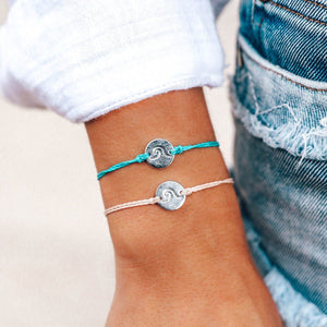 Silver Wave Coin Bracelet | Pacific Blue