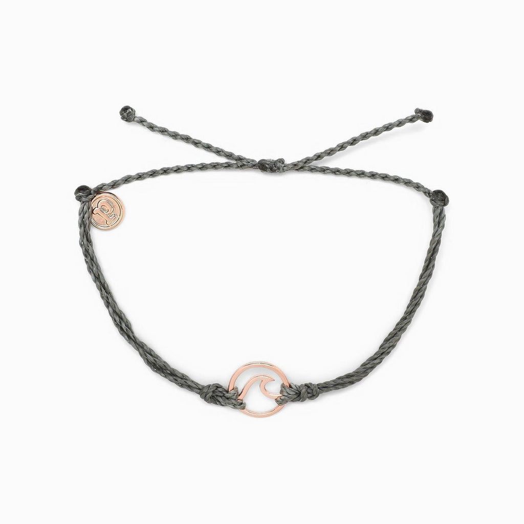 Rose Gold Wave Bracelet | Grey