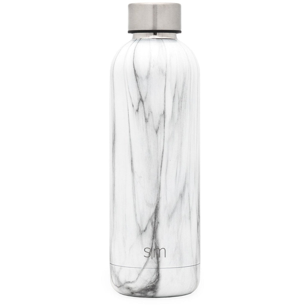 Bolt Water Bottle | Carrara Marble