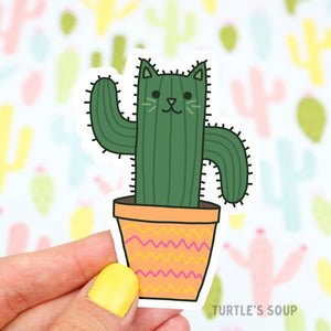 Saguaro Cat Sticker