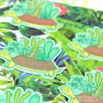Turtle Planter Sticker