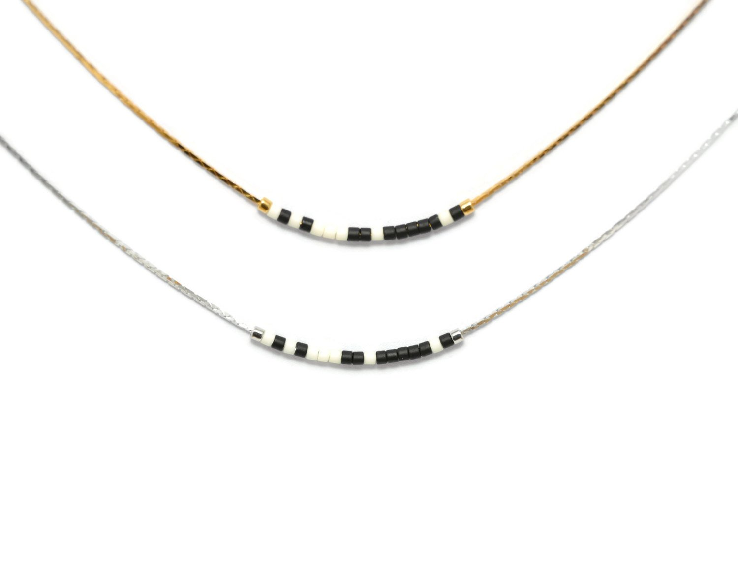 Cousin Morse Code Necklace | Silver
