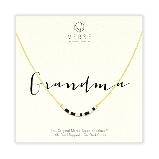 Grandma Morse Code Necklace | Gold