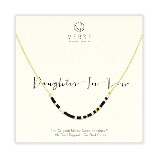 Daughter-in-law Morse Code Necklace | Gold
